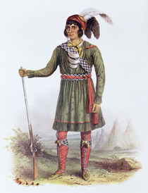 Osceola or 'Rising Sun', a Seminole Leader von George Catlin