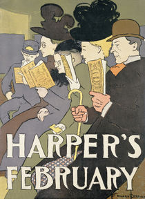 Harper's February, 1897 by Edward Penfield