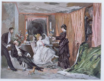 The Dressing Room of Hortense Schneider at the Theatre des Varietes by Edmond Morin