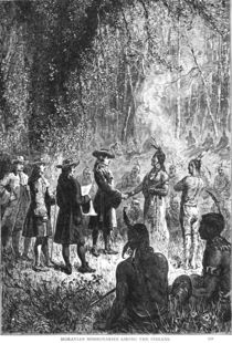 Moravian Missionaries Among the Indians von American School