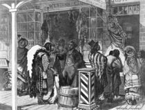 Indians Trading at a Frontier Town by American School