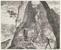 Quaint Picture of the Toilers in the Mines of Potosi von German School