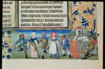 Lat 873 f.21 Dance of the shepherds by French School