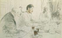 Maxim Gorky Reading his Poem von Ilya Efimovich Repin