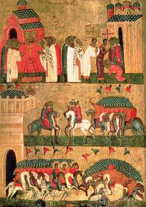 Battle of the Novgorodians with the Suzdalians von Russian School
