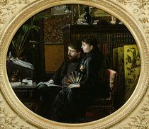 Alphonse Daudet and his Wife in their Study von Louis Montegut