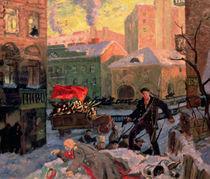 October 1917 in Petrograd by Boris Mihajlovic Kustodiev