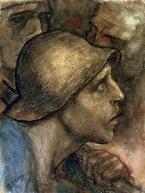 Head of a Worker by Constantin Emile Meunier