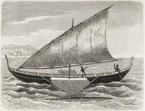 Boat of the Mortlock Islands by English School