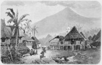 A Tagal village, Luzon in the Philippines by English School