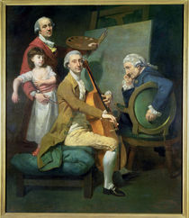 Self Portrait With his Daughter by Johann Zoffany
