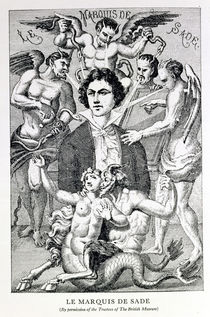 Portrait of the Marquis de Sade Surrounded by Devils by French School
