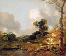 Landscape with Stream and Weir von Thomas Gainsborough