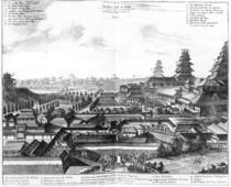 The Imperial Palace Edo, 1725 by Dutch School