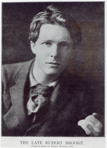 Portrait of Rupert Brooke by English Photographer