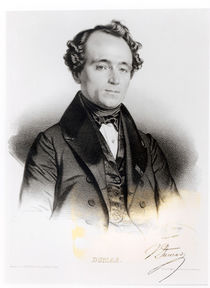 Portrait of Alexandre Dumas Fils engraved by Gregoire and Deneux von French School