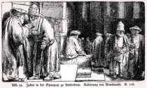 Jews in the Synagogue in Amsterdam by Rembrandt Harmenszoon van Rijn