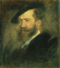 Portrait of the Artist Wilhelm Busch by Franz Seraph von Lenbach