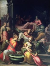Nativity of John the Baptist von Giovanni Battista Naldini