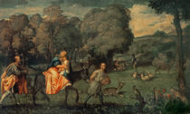 The Flight into Egypt, 1500s by Titian