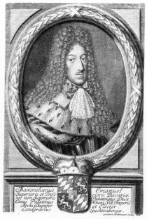 Maximilian II Emanuel , engraved by Leonard II Heckenauer by German School
