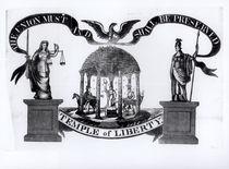 Temple of Liberty, 1834 von American School
