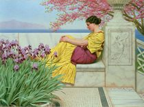 Under the Blossom that Hangs on the Bough by John William Godward