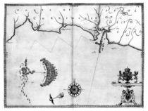 Map No.2 Showing the route of the Armada fleet von Robert Adams