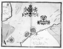 Map No.9 showing the route of the Armada fleet by Robert Adams