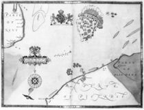 Map No.10 showing the route of the Armada fleet by Robert Adams