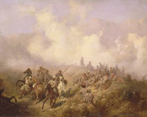 A Scene from the Russian-Turkish War in 1877-78 by Aleksei Danilovich Kivshenko