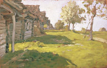 Sunlit Day. A Small Village by Isaak Ilyich Levitan