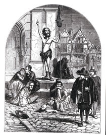 The Great Plague of 1665, the Enthusiast Denouncing London by English School