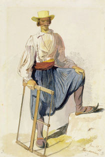 Greek Woodcutter, 13 June 1856 by Edward Lear