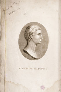 Portrait of Gaius Crispus Sallust engraved by Antonio Verico von Italian School