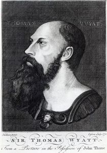 Portrait of Sir Thomas Wyatt the Younger engraved by Ogborn von Hans Holbein the Younger
