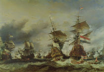 The Battle of Texel, 29 June 1694 von Louis Eugene Gabriel Isabey
