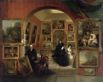 The Interior of the British Institution Gallery von John Scarlett Davis