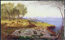 Corfu from Ascension, c.1856-64 by Edward Lear