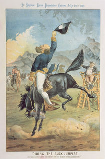 Riding the Buck Jumpers, Lord Salisbury on the Black Horse von Tom Merry