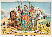 The Royal Arms Jubilant, from 'St. Stephen's Review Presentation Cartoon' by Tom Merry