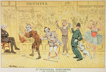 St. Stephen's Pantomime, from 'St. Stephen's Review Presentation Cartoon' von Tom Merry