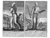 A Flagellant Master Leads his Band of Followers through a City by French School