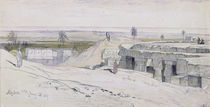 Abydus, 1pm, 12th January 1867 by Edward Lear