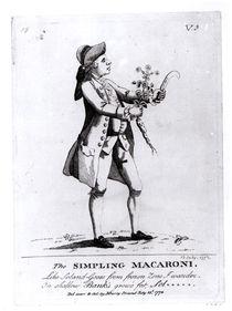The Simpling Macaroni, pub. by N. Darly by English School