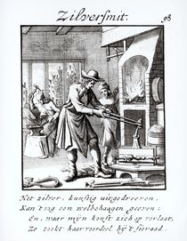 The Silversmith, 1718 by Dutch School