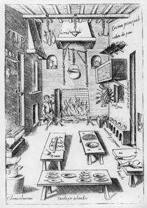 Kitchen interior von Italian School