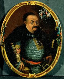 Portrait of Bohdan Khmelnytsky von Russian School