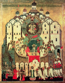 The Assembly of Angels by Russian School