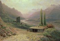 Caucasian Canyon, 1893 by Lef Feliksovich Lagorio
